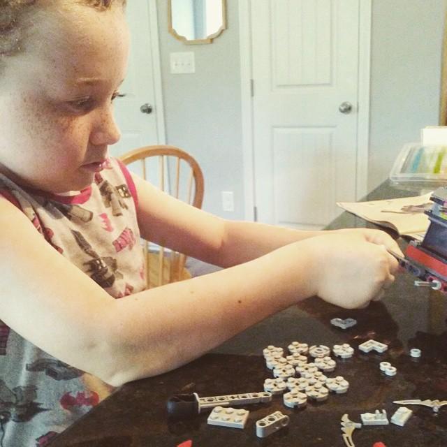 Saturday afternoon Legos