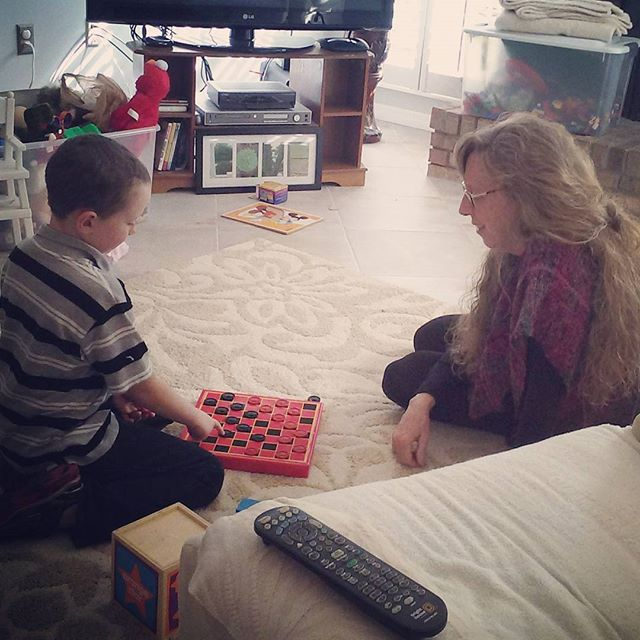 Checkers with Aunt Deirdre