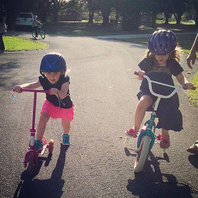 Cousins on wheels